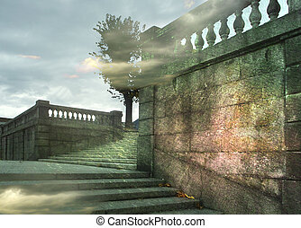 Landscape mystery - Landscape fantasy and mystery, color...