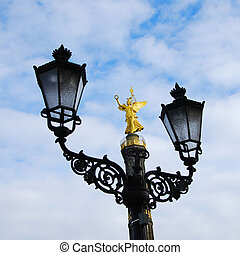 berlin victory column siegessaeule and a historic street...