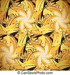 Textile seamless pattern of yellow triangles in warm colors...