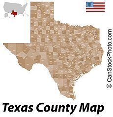 Texas County Map - A large and detailed map of the State of...