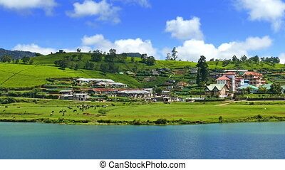 Gregory lake in Nuwara Eliya - Sri Lanka - landscape with...