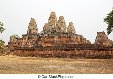 Pre Rup temple ruins - Tourists are visiting the Pre Rup...
