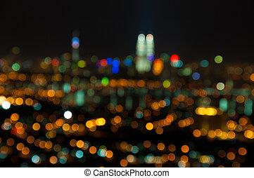 Kuala Lumpur defocused - Blurred lights of Kuala Lumpur...
