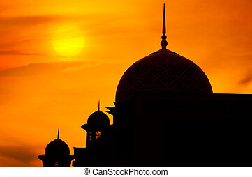 Mosque in sunset - Mosque in a sunset