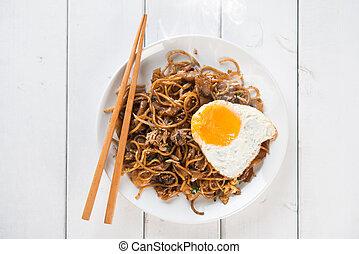 Stir fried Char Kuey Teow noodles - Stir fried char kuey...