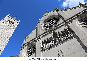 Cathedral of the town of GEMONA in Italy rebuilt after the earthquake