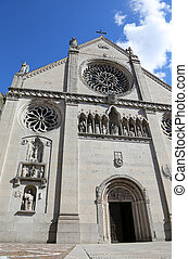 Cathedral of GEMONA in Northen Italy rebuilt after the earthquake