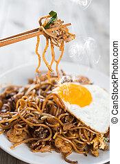 Stir fried Char Kuey Teow - Stir fried char kway teow with...