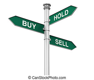Direction Sign of Buy Sell Hold