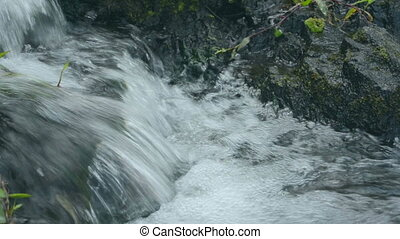Clear potable flowing water stream - Clear potable flowing...