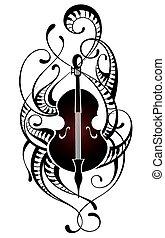 Violin.Music illustration