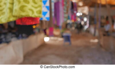 Traditional Moroccan Market - Slightly defocused Traditional...