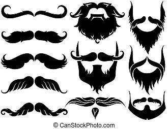 Mustache set - Party symbols