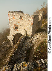 ruins of plavecky hrad castle - part of the ruins of...