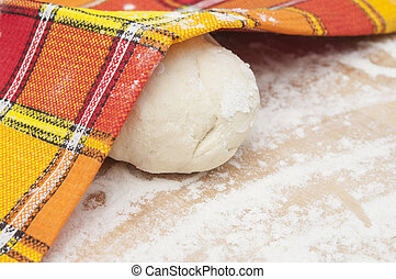Freshly prepared bread dough