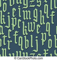 Gothic foun. Seamless vector wallpaper