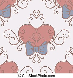 Wedding collection Seamless background Vector illustration -...