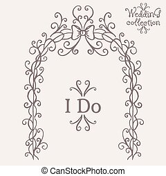 Wedding collection Altar and I Do Vector illustration