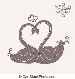 Wedding collection Design elements Vector illustration -...