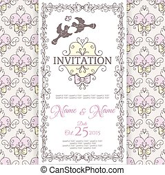 Wedding collection. Invitation design template.