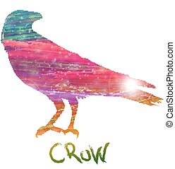 Abstract crow