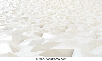 Polygonal Background Loop - Abstract seamless white...