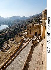 Beautiful Amber Fort in Jaipur, Rajasthan, India