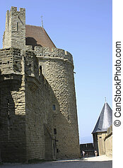 Carcassone towers palace - Carcassone tower palace in France