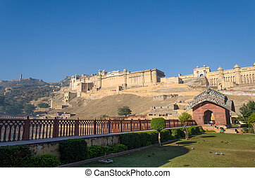 Amber Fort, Landmark in Jaipur, Rajasthan, India