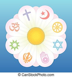 World Religions Flower Symbols - World religion symbols on...