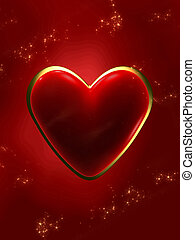 Valentin day heart - Valentin day lovely golden and red...