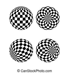 Checkered sphere set