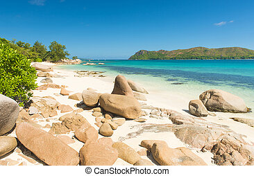 Anse Boudin - Beautiful beach Anse Boudin seen from the...