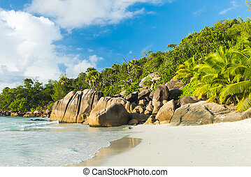 Anse Lazio - Beautiful and a famous beach Anse Lazio with...