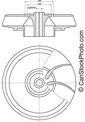 Wheel sketch with span and section - Expanded sketch of...