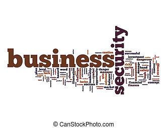 単語, ビジネス, 背景, セキュリティー, 白, 雲