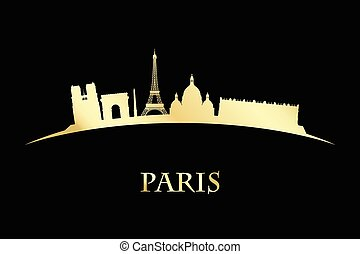 Paris skyline - silhouette of Paris skyline