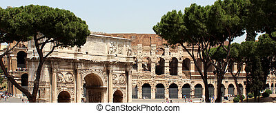 The Colosseum in Rome in Italy The photo was created by me...