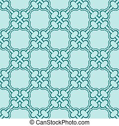 turquiose seamless pattern - Simple turquiose seamless...