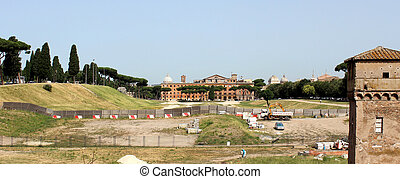 Circus Maximus in Rome - Historical terrain of the Circus...