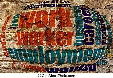 Employment work cloud