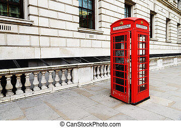 London city - Red telephone near Big Ben, in London,...