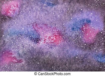 Galaxy or Milky Way Watercolor space or cosmic background...