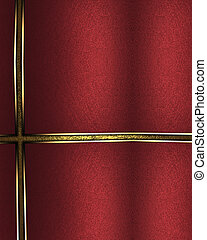 Element for design. Template for design. Abstract red background with golden lines