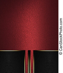 Element for design. Template for design. Red texture with black elements