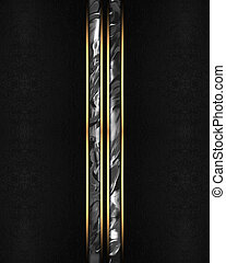 Element for design. Template for design. Abstract black background with metall lines