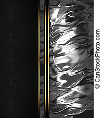 Element for design. Template for design. Abstract metallic texture with black edge