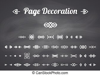 Calligraphic page decoration - Calligraphic design elements...