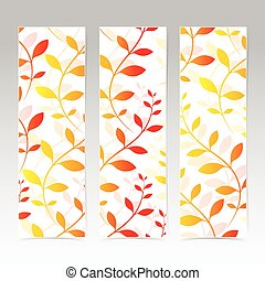 Colorful Vertical Set Of Floral Banners . Modern Vector Illustration