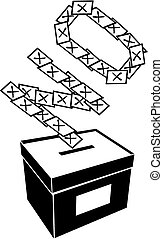 voting or vote - computer design, computer icon, black and...